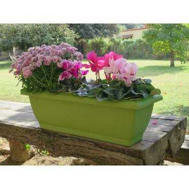 Jardinera de balcón pistacho ELENIA 62 Nortene