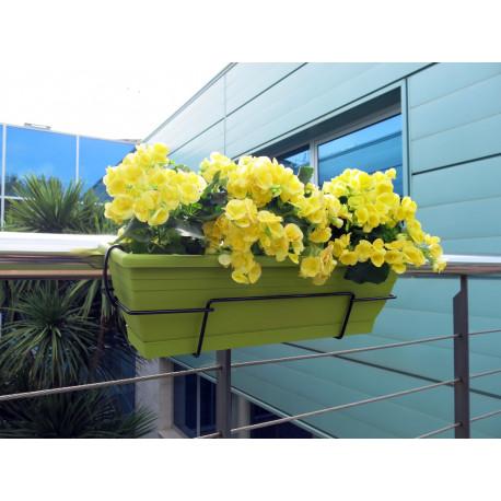 Jardinera de balcón con soporte metálico lima FLORIA 62S Nortene